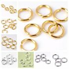 300pc Silver Gold Steel Copper Jump Rings Double Loop Finding Link Connector