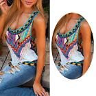 Summer Women Ladies Floral Sexy Vest Sleeveless Blouse Casual Tank Tops T-Shirt