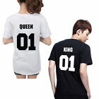 Fashion King 01 and Queen 01 T-Shirt Love Matching Shirts - Couple Tee Tops Hot