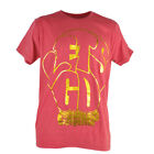 Shannon Cannon Briggs Lets Go Champ Boxer Red Gold Foil Print Tshirt Tee Mens