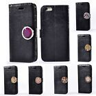 For Nokia LG HTC Coin Moneda Decoration Flip Synthetic Leather Stand Case Cover