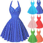 Belle Poque 50s 60s Vintage Polka Dots Pinup Party Swing Dress Housewife Evening