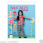 McCall's 7346 Easy Sewing Pattern to MAKE Girls' Tops, Dresses, Shorts & Pants