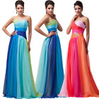 2-24W Long Wedding Bridesmaid Formal Gown Ball Party Cocktail Evening Prom Dress