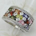 Size 5.5 6.5 Super Nice Multi-Color CZ Gems Jewelry Gold Filled Woman Ring K270