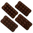 Silicone Chocolate Moulds 4 Designs Hearts Flowers Cupcakes Dinosaurs