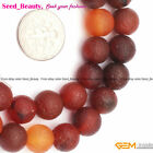 "Natural Gemstone Dream Agate Onyx Stone Jewelry Making Beads Strand 15"" Matte"