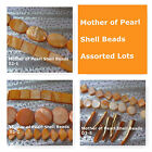 Mother of Pearl Shell Spacer Beads Jewelry Supply Craft Findings Orange