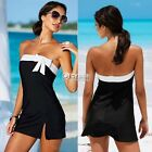 Summer Women Bathing Suit Sexy Strapless Bikini Swimwear Cover Up Beach Dress