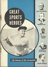 GREAT SPORTS HEROES booklet LOU GEHRIG cover New York Yankees