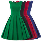 BP Retro Vintage Party Evening Dress 50s Pinup Swing Prom Cocktail Pleated Short
