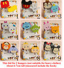 Mickey Minnie Mouse Stitch Key Hat Bag Coat Wall Door Wooden Hanger Sticky Hooks