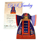 SOMSSI Very Cute Paper Fold Korean Traditional Royal Lady Dress Greeting Cards