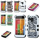 Impact Hard Case+Silicone Hybrid Protector TUFF Cover for MOTOROLA Moto G