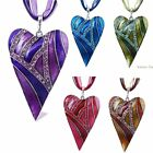 Wholesale Fashion Heart Jewelry Crystal Chain Statement Women Necklace Pendant