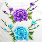 FD3772 Delicate Embroidered Big Peony Flowers DIY Collar Dress Patch 23x20cm☆