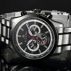 KS Men's Date&Day 12/24Hours Crystal Case Back Automatic Mechanical Wrist Watch