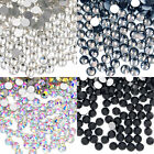 1440 pcs(10 Gross) Top Quality Glass Crystal No-HotFix Flatback Rhinestone Nail