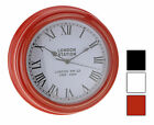 Attractive Chunky Modern Wall Clock 30cm Choice of 3 Colours