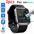 2 PCS Premium Tempered Glass Film Screen Protector Guard For Fitbit Blaze Watch