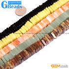 Natural Gemstone Cube Spacer Disc Beads For Jewelry Making Free Shipping 15""