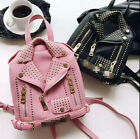 Womens rivets small motorcycle punk backpack casual college travel bags hot X16
