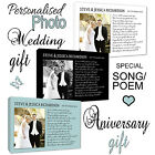~Personalised WEDDING ANNIVERSARY Photo Gift Canvas/Poster Poem/Song Lyrics