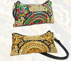 bg20 CFLB Vintage Bohemian HANDMADE Floral Fabric Embroidered Shoulder Bag Purse