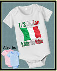 HALF ITALIAN IS BETTER THAN NOTHING SHIRT OR BODYSUIT FLAG NATIONALITY TSHIRT