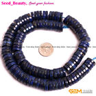 """Lapis Lazuli Gemstone Jewelry Making Spacer Beads 15"""" Dyed From Natural Stone"""