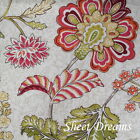 Peacock Alley 100% Cotton Linen Coral Floral Duvet and Shams Set New