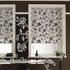 ROLLER BLINDS - straight edge -  TAMARA BLACK & WHITE made to your exact size.