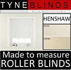 ROLLER BLINDS - straight edge HENSHAW fabric - made to your exact size.