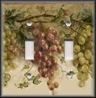Light Switch Plate Cover - Tuscan Kitchen Decor - Tuscany Wine Grapes Vines
