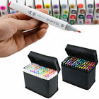 2016 Popular 80 Color Touch Five Art Sketch Twin Marker Pen Broad Fine Point New