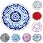 NEW Large Round Beach Towel Fringed Light 100% Cotton Summer