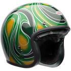 Bell Custom 500 Open Face Motorcycle Helmet Vintage Chem Candy Mean Green + BAG
