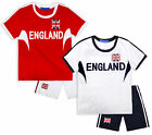 Boys Short Sleeved 2 Piece England Football Set New Kids Set Ages 4-14 Years