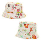 Baby's Wide Brim Bush Hat Squirrel Owl Nature Design Boys & Girls Summer Sun Cap