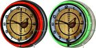 "Pheasant Hunter Crosshair 18"" Double Neon Wall Clock Man Cave Hunting Lodge"