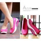 Women Casual Slip On Walking Fitness Shoes Sneakers Breathable Platform Shoes W