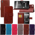 For Sony Xperia Z5 With Starp Case New Leather Embossed+Soft Rubber Inside Cover