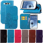 For Samsung Galaxy S3 SIII i9300 With Starp Case Leather Embossed+Soft TPU Cover