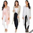 Womens Ladies Open Waterfall Long Sleeve Cardigan Shrug Bolero Summer Jacket