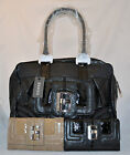 GUESS Castle Rock Shopper Tote Bag Purse Wallet Checkbook Set Black Camel New