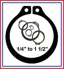 """EXTERNAL RETAINER, HOOK & SNAP RINGS  (QTY. 4)  1/4"""" to 1 1/2"""""""