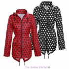 Girls Children Kids Spotted Showerproof Mac Fishtail Parka Raincoat Jacket