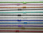 New Wholesale Lots 12 COLOR 10pcs Ball Metal 2.4mm Beads Chains Necklace hot