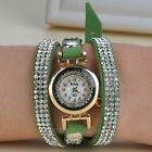 Fashion Bracelet Watches Women Leather Rhinestone Rivet Chain Quartz Wrist watch