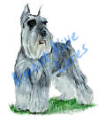 Schnauzer Dog Pet Almost Alive Vinyl Decal - Auto Car Truck RV Cell Cup Boat
